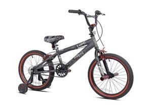 "Kent 18"" Abyss Boys Freestyle BMX Bike, Charcoal Gray"