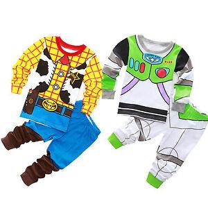 Kids Boys Baby Toy Story Buzz Lightyear and Woody Sets Sleepwear Pajamas Outfits