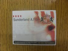 18/10/1997 Ticket: Sunderland v Huddersfield Town (folded). Any faults are noted