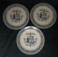 Johnson Bros Hearts and Flowers Staffordshire Old Granite 3 Dinner Plates Set