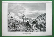 ITALY Dinaric Alps Near Trieste - VICTORIAN Antique Print Engraving