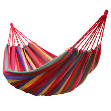 rainbow Outdoor Leisure Double 2 Person canvas Hammocks Ultralight Camping H3F8
