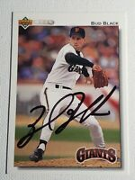 1992 Upper Deck Bud Black Autograph Card Auto Giants Royals Indians Signed