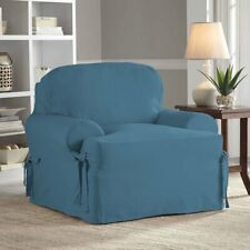 Serta Relaxed Fit Cotton Duck Slipcover for T-Chair, Blue/Indigo Cover