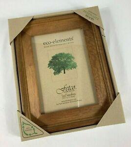 "New Eco Elements Fetco Home Decor 5"" x 7"" Renewable Jackson Walnut Wood Frame"