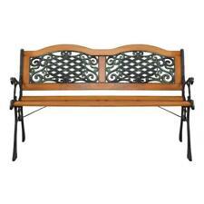 "50"" Steel Bench Outdoor Garden Park Porch Patio Chair Metal Furniture Back yard"