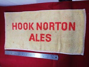 Hook Norton Traditional Ales Collectable Classic Pub Bar Towel - 1970s vintage