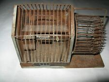 New listing Old Orig Hendrix (not-bird) Mouse cage house wheel never seen one complete Rare!