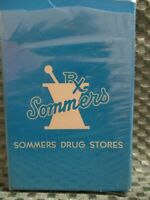 "Vintage ""Summers Rexall Drug Store"" deck of playing cards . new sealed"