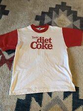 Vintage Coca Cola shirt Diet Coke shirt 1980s tee shirt Red crew cotton blend