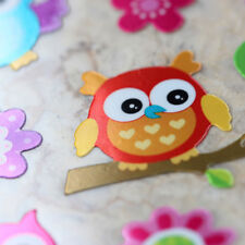 Kawaii Emoji Animals Cute Colorful Owl Birds Shiny Foil Scrapbooking Stickers