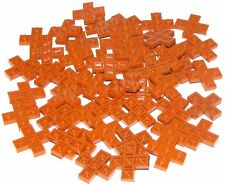 LEGO LOT OF 50 NEW DARK ORANGE PLATES 3 X 3 CROSS PIECES BUILDING BLOCKS