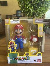 Super Mario Bros S.H. Figuarts Figure Gold Coin & Mushroom Bandai Tamashii Natio