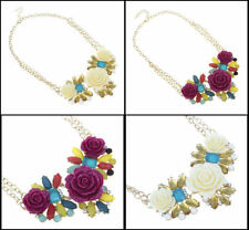 Alloy Flowers Plants Collar Costume Necklaces & Pendants