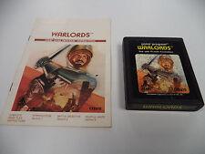 Warlords ATARI 2600 Game Cartridge with Instruction Booklet ATARI