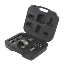 TCT Core Drill Kit 9pce For Cutting Holes in Masonry Wall - Sizes 30, 50 & 110mm