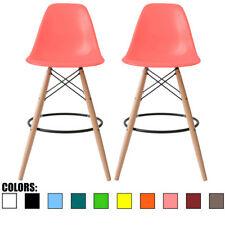 New listing Set of 2 Modern Contemporary Bar Stool Pub Chairs Eiffel Metal Leg Bar Height
