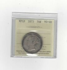 **1873**, ICCS Graded Newfoundland, Fifty Cent, **VG-10**