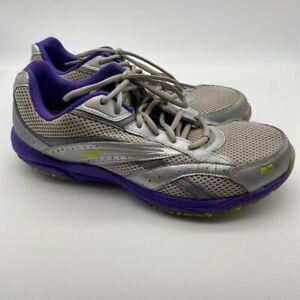Ryka Womens Stroll Running Shoes Metallic Purple Leather Lace Up Mesh 9.5 M