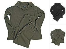 Mil-Tec Unterwäsche-Set Thermofleece mit Reißverschluss Fleece Shirt Hose XS-3XL