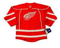 New NHL Detroit Red Wings #71 Dylan Larkin Boys Red Double Stripe Jersey Sz M