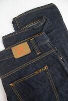 RRP £125 NUDIE AVERAGE JOE RECYCLE DARK WORN Men W34/L34 Straight Jeans 4832*mm