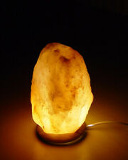 Salt Lamp Natural Himalayan Pink Crystal USB Cable Led Bulb Attached Wood Base