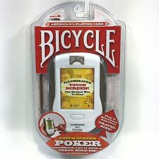 Bicycle Poker Handheld Electronic Game w/ Illuminated Touch Screen NEW