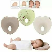 born Baby Infant Memory Foam Pillow Positioner Prevent Flat Head Anti Roll