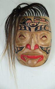 FIRST NATION STYLE RAVEN ANCESTOR SPIRIT MASK ~ CANADIAN ABORIGINAL STYLE