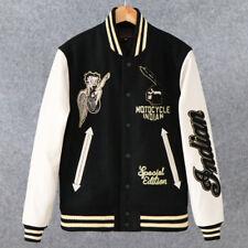 SneakFit365 Women/'s Fleece Letterman Jacket