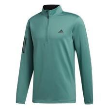 adidas Golf 3-Stripes Midweight 1/4 Zip Top (Tech Emerald - XXL)