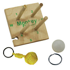 Pepperell Wooden Monkey Fist Maker Paracord Survival Accessory Kit Crafting 7 pc