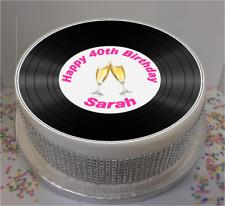 "Novelty Personalised Vinyl Look Female 7.5"" Edible Icing Cake Topper birthday"