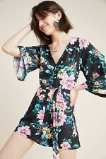 Anthropologie Gabbi Bell Sleeve Romper Jumpsuit small Size 1 - New!