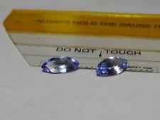 Pair Natural Blue Color Tanzanite Zoisite Marquise Cut Gemstones Unheated