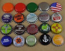 Lot mit 20 bière Coca-Cola BUDWEISER et autres SODA capsules de USA BOUTEILLE