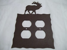 Elk Rustic Heavy Metal Brown Double Outlet Cover Decoration Lodge Cabin