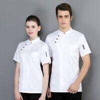 Unisex Chef Coat Comfortable Restaurants Chef Uniform Fashion Soft Cook Clothes