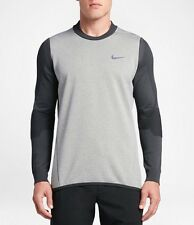 NIKE TECH SPHERE KNIT CREW Men's Golf Cover-Up 801904-091 Size XL Grey RRP $190