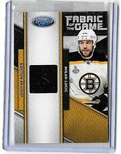 MILAN LUCIC 201-11 PANINI CERTIFIED FABRIC OF THE GAME GAME USED JERSEY#/299