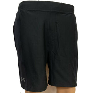 Under Armour Mens Black Shorts UA HeatGear Fitted Sports Training Running L