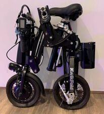 Kwikfold Pro 12 Aluminium Folding Electric Bike ebike with Battery Black Edition
