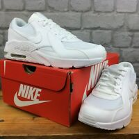NIKE UK 13.5 EU 32 AIR MAX EXCEE WHITE TRAINERS LEATHER CHILDRENS BOYS GIRLS AD
