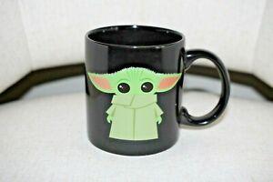 New Disney Baby Yoda Large Mug Stoneware 20 oz Black Star Wars The Mandalorian