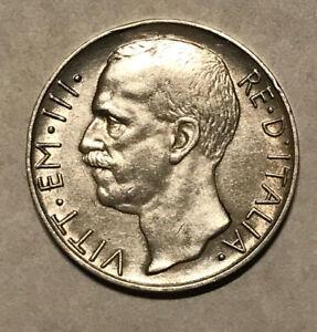 Italy - 1926 Silver 10 Lire - Scarce Date!