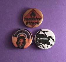 Set Of 3 Massive Attack 25mm Button Pin Badges Mezzanine/ Heligoland