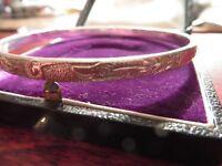 Hübscher 925 Silber Armreif Mexico Taxco Sterling Struktur Muster Welle Elegant