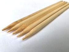 """5 7/8"""" Us Sizes 0 to 17 Bamboo Double Point Knitting Needles Choose Size Needle"""