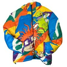 Members Only Colorful Zip Up Nickelodeon Rugrats Puffer Coat NWT Men's Size 2XL